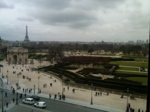 View of Paris from the Richelieu Wing, Louvre