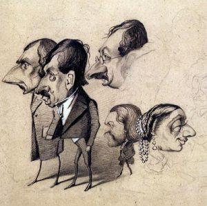 """""""Caricature of Actors"""" by Claude Monet Musèe Marmottan Monet, Paris"""