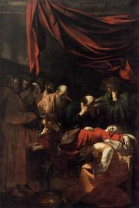 """Death of the Virgin"" by Caravaggio Louvre, paris"
