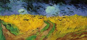 """Field of wheat with crows"" by Vincent Van Gogh Van Gogh Museum, Amsterdam"