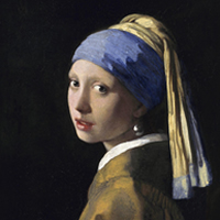 """Girl with a Pearl Earring"" by Vermeer Mauritshuis, Den Hague"