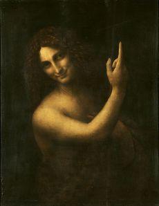 """St.John the Baptist"" by Leonardo Da Vinci Louvre,Paris"