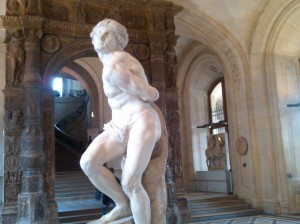 """The Captive Slave"" by Michelangelo Louvre,PAris"