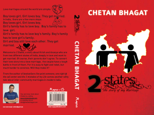 """Two States"" Chetan Bhagat"