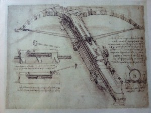 Manuscript from the Codex Atlanticus by Leonardo Da Vinci