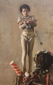 """Il Saltimbanco"" by Antonio Mancini Philadelphia Museum of Art"