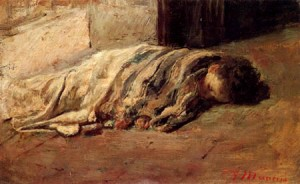 """Sleeping Boy"" by Antonio Mancini Private Collection"