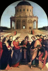 """Marriage of the Virgin"" by Raphael Pinacoteca di Brera, Milan"