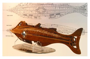 Nautilus - The Fictional submarine captained by Nemo - Twenty Thousand Leagues under the sea by Jules Verne