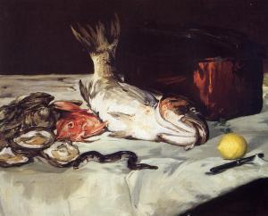 """Still Life with Fish"" by Edouard Manet Art Institute of Chicago"