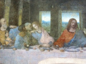 "Close up of Judas and Jesus ""The Last Supper"""