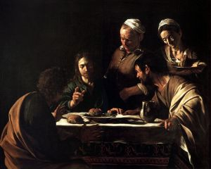 """Supper at Emmaus"" by Caravaggio Pinacoteca di Brera, Milan"