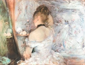 """Lady at her Toilette"" by Berthe Morisot Art Institute of Chicago"