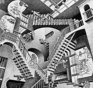 """Relativity"" by M.C.Escher"